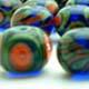 Blue, Coral, Olive
