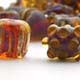 Purple, Amber and Silvering Glass