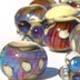 Silvery Amber Purple